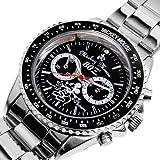 Disney ディズニー ミッキー 生誕80周年記念 回転 ベゼル腕時計 ブラック スワロフスキー【並行輸入品】 [時計]