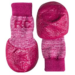 RC Pet Products Sport Pawks Dog Socks, Small, Pink Heather
