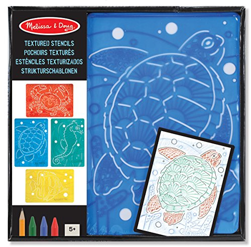 Melissa & Doug Textured Stencils - Sea Life - 1