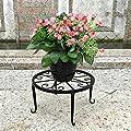 4 in 1 Metall Pflanzenständer Blumen Regale Tisch Pflanzentisch Blumenständer-Schwarz von Dazone bei Gartenmöbel von Du und Dein Garten
