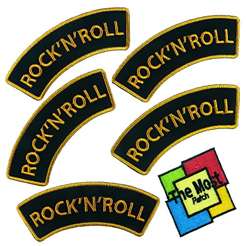 Lot of 6 pieces Rock N Roll Songs Music Vintage Band Embroidered Iron/Sew On Patch (Vintage Pieces compare prices)