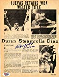 Roberto Duran & Jose Cuevas Autographed Magazine Page Photo PSA/DNA #S48701
