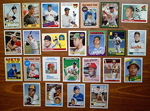 2006-topps-baseball-rookie-of-the-week-baseball-complete-25-card-set-loaded-with-hofers-great-reprin