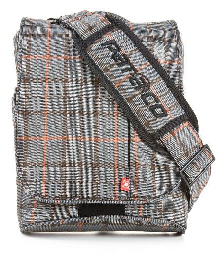 """Pataco borsa con tracolla per notebook/netbook/tablet max 12,1"""" Topload Sportive Tracolla colore esterno grigio a quadretti - colore interno arancione - CTSV-12C"""