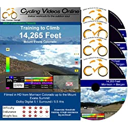 Training to Climb! 14,285 Feet Mt Evans Colorado. (DVD) Virtual Indoor Cycling Training / Spinning Fitness and Workout Videos