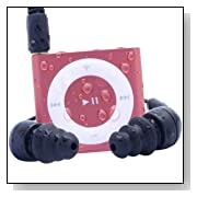 Waterfi 100% Waterproof iPod Shuffle Swim Kit with Dual Layer Waterproof/Shockproof Protection (Pink)