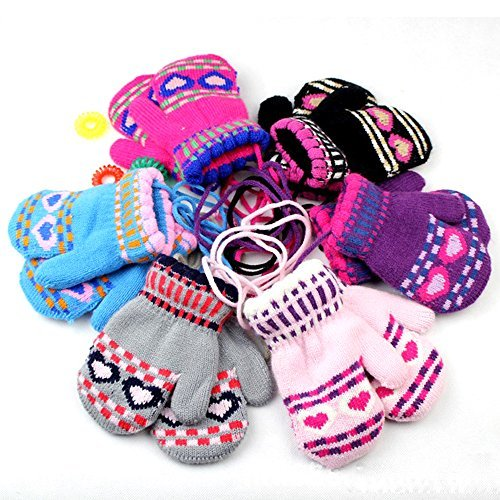 COFFLED® New Fastion Kids Soft Scratch Mitten Baby Kids Child Winter Smart Warm Gloves Gift