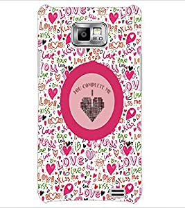 PrintDhaba Quote D-4167 Back Case Cover for SAMSUNG GALAXY S2 (Multi-Coloured)