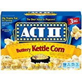 Act II Popcorn Kettle Corn, 3 Count (Pack of 12)