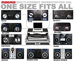 Magma Multi-Format Workstation XXL Universal DJ Controller Flight Case - fits Pioneer DDJ, Numark by Magma