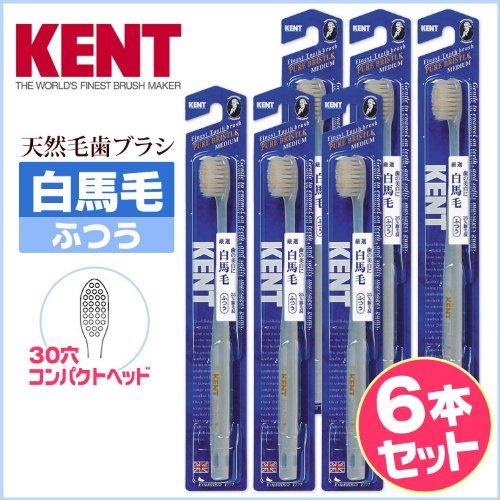 KENT 白馬毛歯ブラシ 6本セットKNTー1232