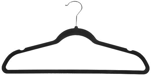 AmazonBasics Velvet Suit Hangers - Black (Set of