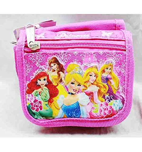 String Wallet - Disney - Princess w/ Flowers Pink Girls Toys Kids New a03885 - 1