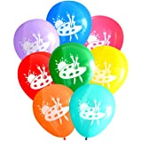Nerdy Words Art Party Balloons (16 pcs) Assorted Colors (Color: Multicolored)