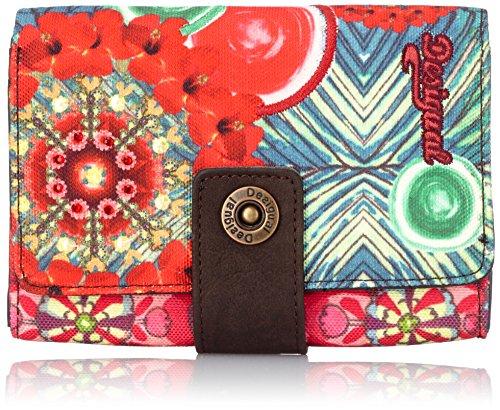 Desigual MONE_LENGÜETA S TROPIC GARDEN, Portafoglio donna, Multicolore (Mehrfarbig (Rojo Loft 3088)), 15x11x3 cm (B x H x T)