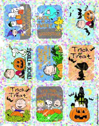 Eureka Peanuts Halloween Stickers