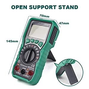 ZISS Auto-Ranging Digital Multimeter Diode Voltage Tester with Backlit LCD