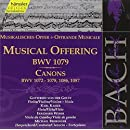 Bach: A Musical Offering BWV 1079 133/ Canons BMV 1072-78