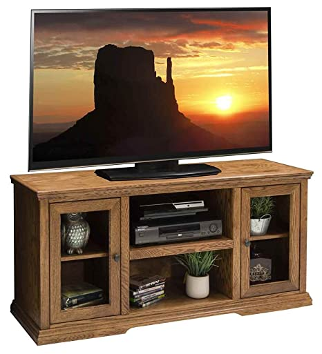 53.75 in. TV Cabinet in Golden Oak Finish