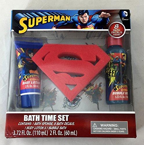 Superman Bath Time Set Home Garden Bathroom Accessories Bathroom Accessory Sets