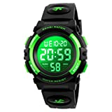 Kids Watch, Boys Sports Digital Waterproof Led Watches with Alarm Wrist Watches for Boy Girls Children (Color: 7 Colour Green)