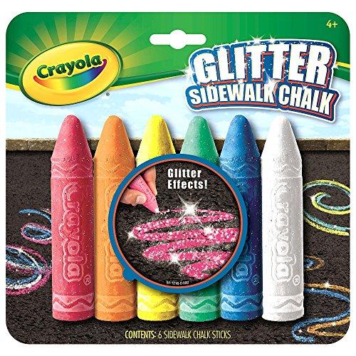Crayola 6 Count Glitter Sidewalk Chalk