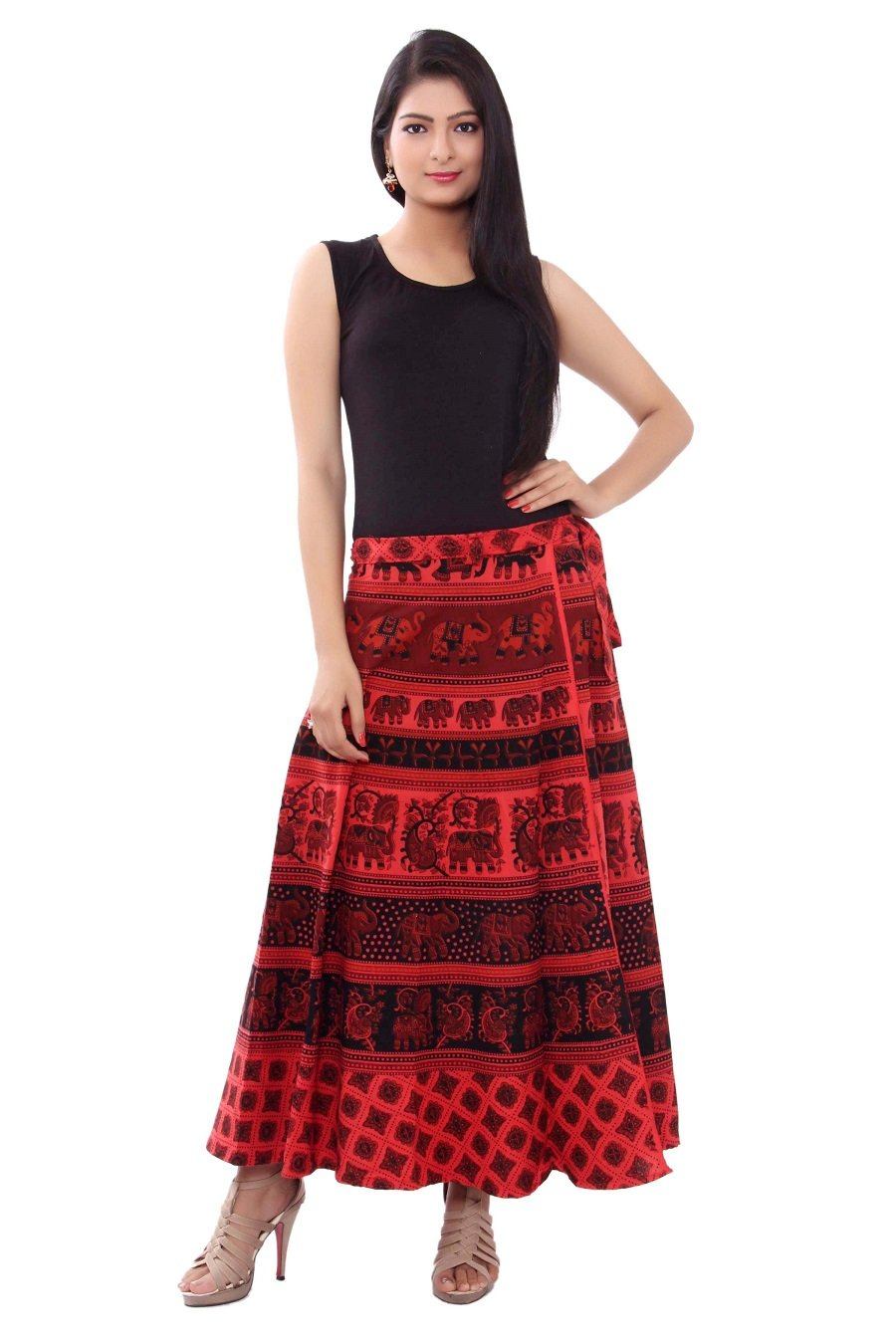 Cotton Multi Color Wrap Around Skirts