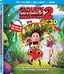 Cloudy with a Chance of Meatballs 2 (Three-Disc Combo: Blu-ray 3D + Blu-ray + DVD + UltraViolet Digital Copy) by Sony Pictures Home Entertainment