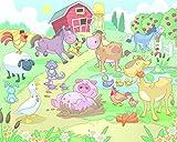 Walltastic - Papel pintado para habitación infantil, diseño de granja