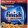 Finish Gelpacs Dishwasher Detergent, Orange Scent, 32 Count