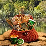 Goumet Fishing Creel Fishermans Gift Basket | Fishing Gift Idea for Holidays Birthdays or Fathers Day
