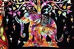 Kayso Elephant Tree Tapestry with Goo...