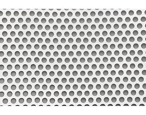 Sumex RAF1500 Schutzgitter, Aluminium, 33 x 100cm, runde Löcher, silberfarben