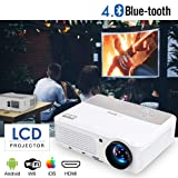 2019 Bluetooth Projetor WiFi Android LCD LED Smart Video Projectors Home Theater 3600 Lumens Support HD 1080P Airplay HDMI USB RCA VGA AV for Smartphone DVD Game Consoles Laptop Outdoor Movie TV Stick