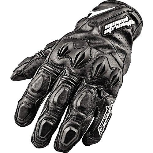 Speed & Strength Seven Sins Leather Gloves , Distinct Name: Black, Primary Color: Black, Size: Sm, Gender: Mens/Unisex, Apparel Material: Leather 87-5935