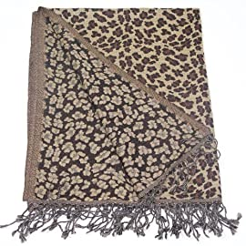 Reversible Leopard Print Shawl and Scarf - Only of its kind leopard print shawl