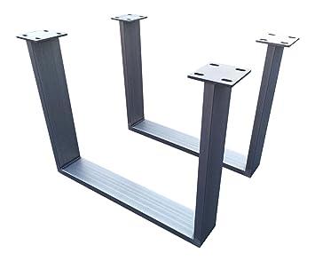 Holzwerk CUG 306 - Patas de soporte para mesa, acero