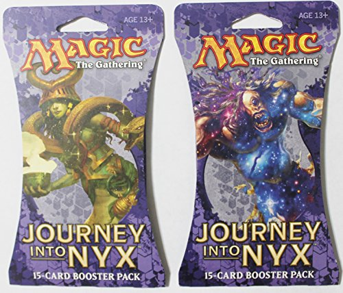 2 Packs of Magic: The Gathering - Mtg: Journey Into Nyx Booster Pack - 1