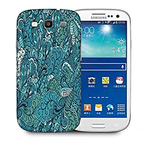 Snoogg Abstract Green Leaves Printed Protective Phone Back Case Cover For Samsung S3 / S III