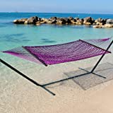 Caribbean Rope Hammock in Purple