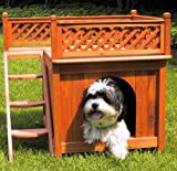 Small Size Room With A View Cedar Brown Wood Pet House by Merry Products
