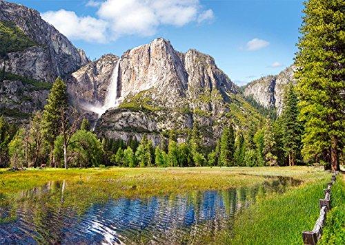 Puzzle 1000 Teile - Yosemite Nationalpark USA - Berge Gebirge Landschaft Valley Tal - Landschaftspuzzle Wälder Wasserfall Berg See Hochland Amerika - Kalifornien