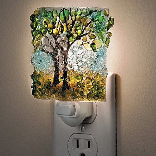 Recycled Glass Night Light-Tree of Life – Improvements