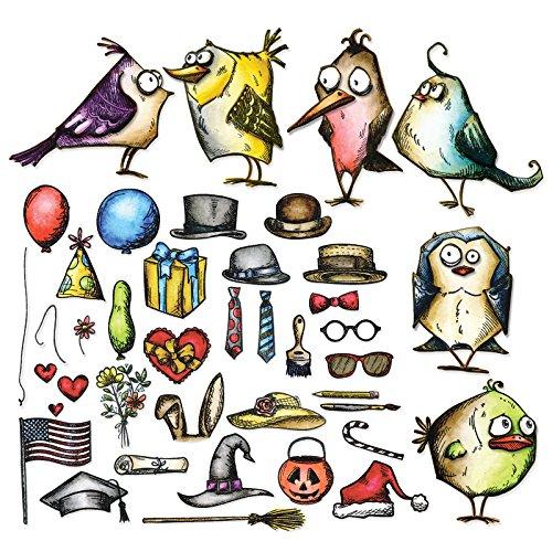 sizzix-framelits-dies-by-tim-holtz-mini-bird-crazy-things