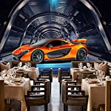 Wapel Custom Any Size Mural Wallpaper 3D Metal Textured Sports Car Cafe Children Kids Bedroom Backdrop Wall Painting Silk Cloth 200x140CM (Color: 200x140CM)
