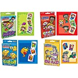 Imperial Kids Oversize Card Game Bundle: War, Crazy Eights, Go Fish!, Old Maid (Set of 4)