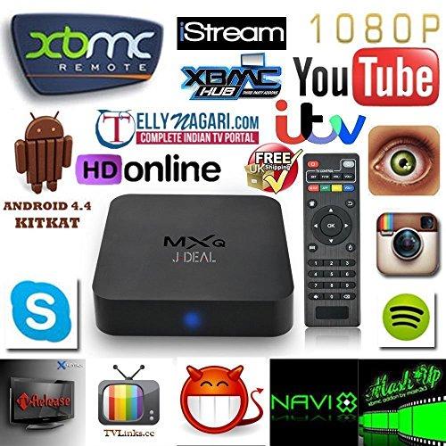 SEGURO® MXQ Kodi 16.0 Amlogic S805 Quad Core Xbmc Tv Box Android 4.4 Kitkat H.265 Wifi LAN Miracast Airplay Hdmi 1G RAM 8G ROM Precaricato per Intrattenimento Domestico