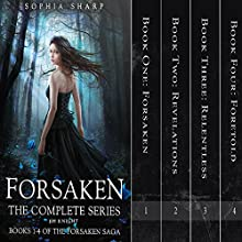 The Forsaken Saga Complete Box Set (Books 1-4) Audiobook by Sophia Sharp, E. M. Knight Narrated by Pamela Lorence