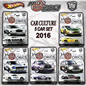 2016 Hot Wheels Set Of 5 Cars Japan Historics Car Culture Limited Edition 1:64 Scale Collectible Die Cast Metal...
