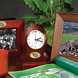 Tennessee Titans Memory Company Desk Clock NFL Football Fan Shop Sports Team Merchandise